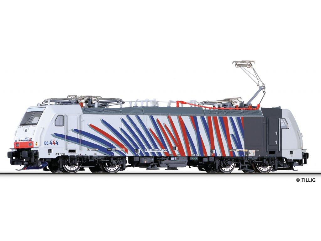 """TT - elektrická lokomotiva 186 444-6 """"LOKOMOTION"""" /  TILLIG 04918"""