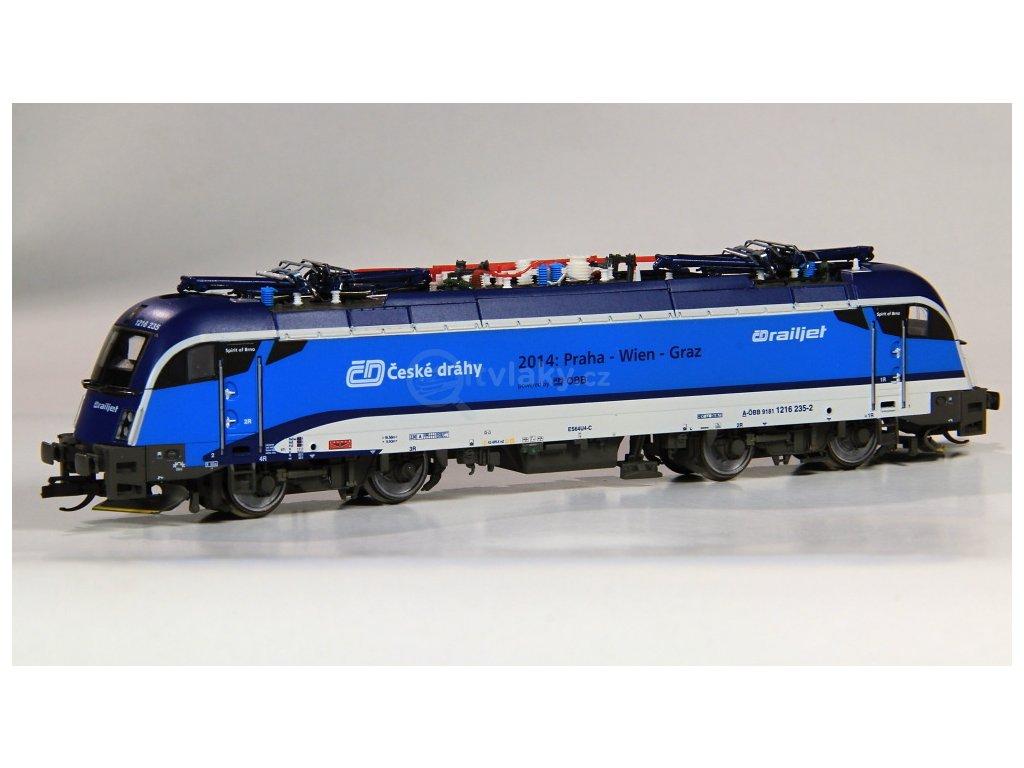 TT - Lokomotiva Taurus 1216 235, ČD Railjet, OBB / Tillig 04962