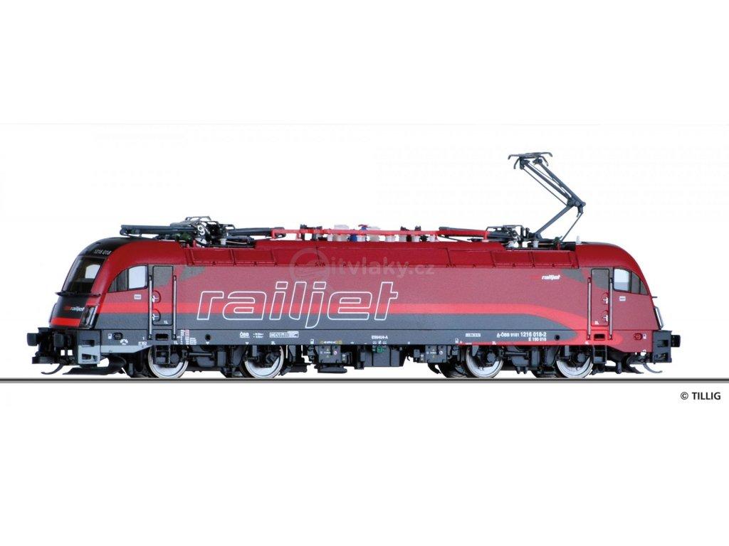 TT - lokomotiva Taurus 1216 Railjet ÖBB  / Tillig 04968 E