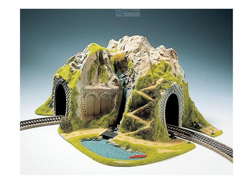 H0 - Tunel, 1-kolejný, zahnutý / NOCH 05170