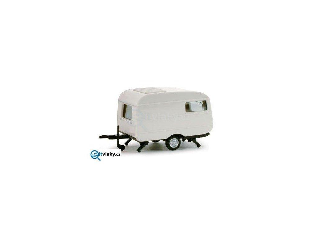 H0 - QEK Junior trailer - obytný přívěs / Herpa 053099