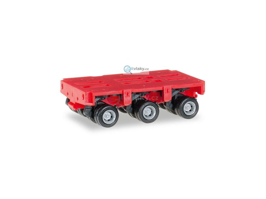 H0 - Goldhofer axles THP-SL 3a, červená/ HERPA 053501