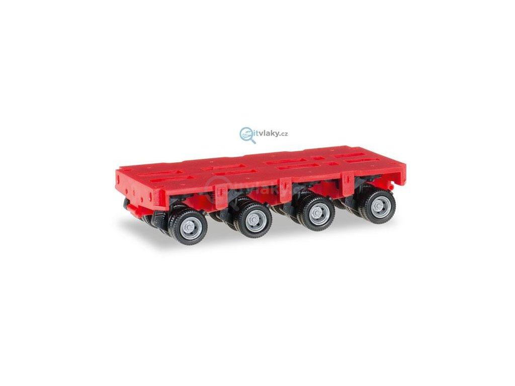 H0 - Goldhofer axles THP-SL 4a, červená / HERPA 053518