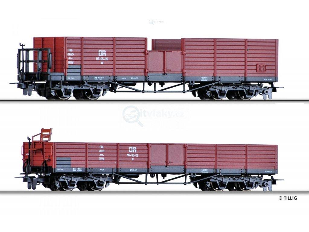 H0e - set 2 otevřených nákladních vozů, DR / TILLIG 05921