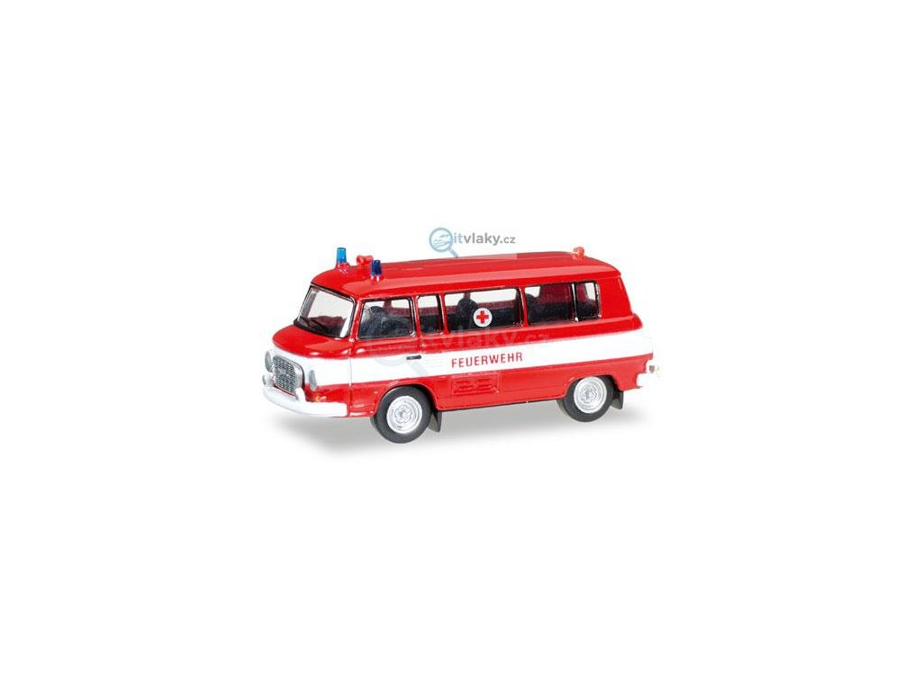 "TT - Barkas B 1000 bus ""Fire Department / Rotes Kreuz"" / HERPA 066556"