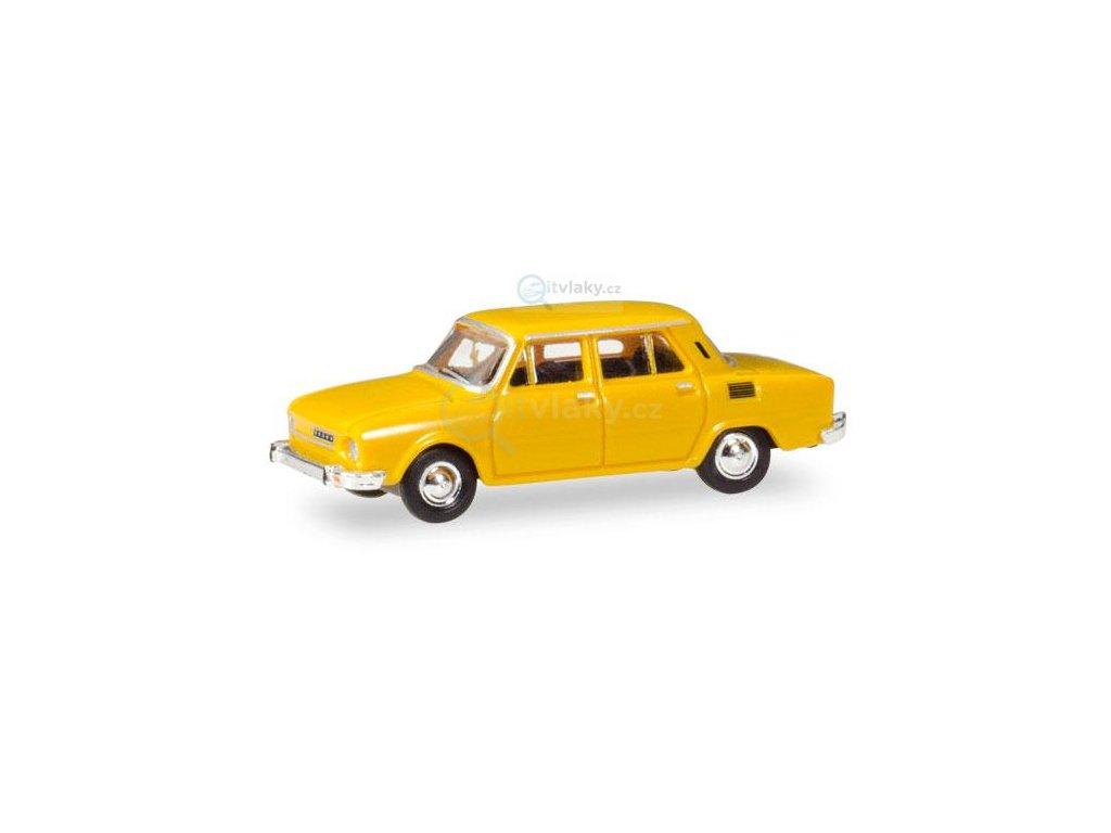 TT - automobil Škoda 110 L - žlutá / HERPA 066563
