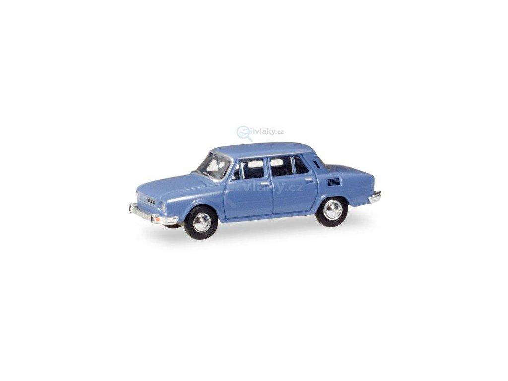 TT - automobil Škoda 110 L - modrá / HERPA 066570