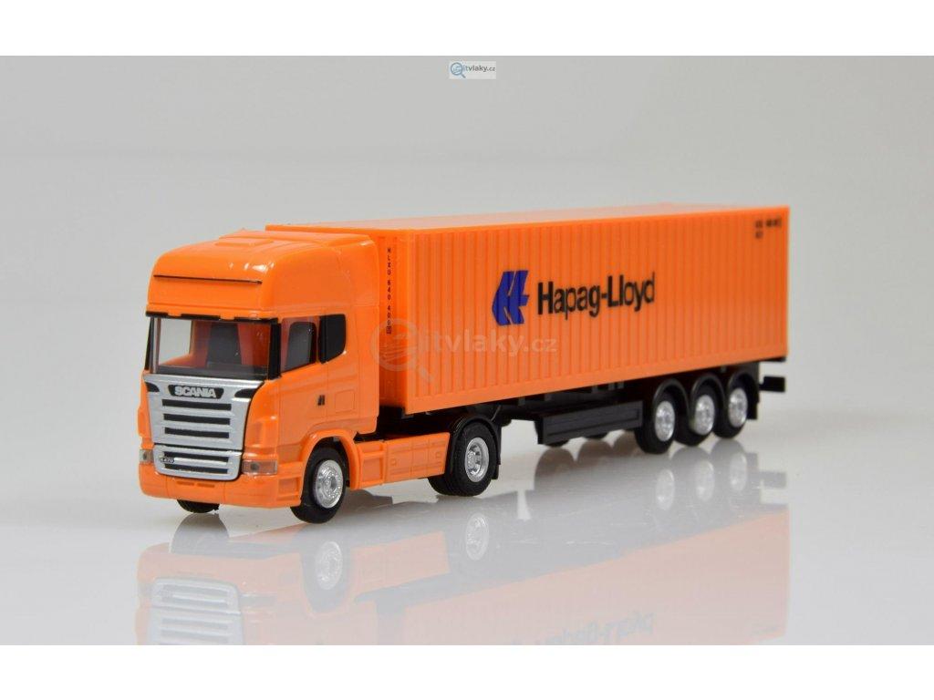 SLEVA! TT -  tahač s návěsem Scania R TL Hapag Lloyd / HERPA 066594