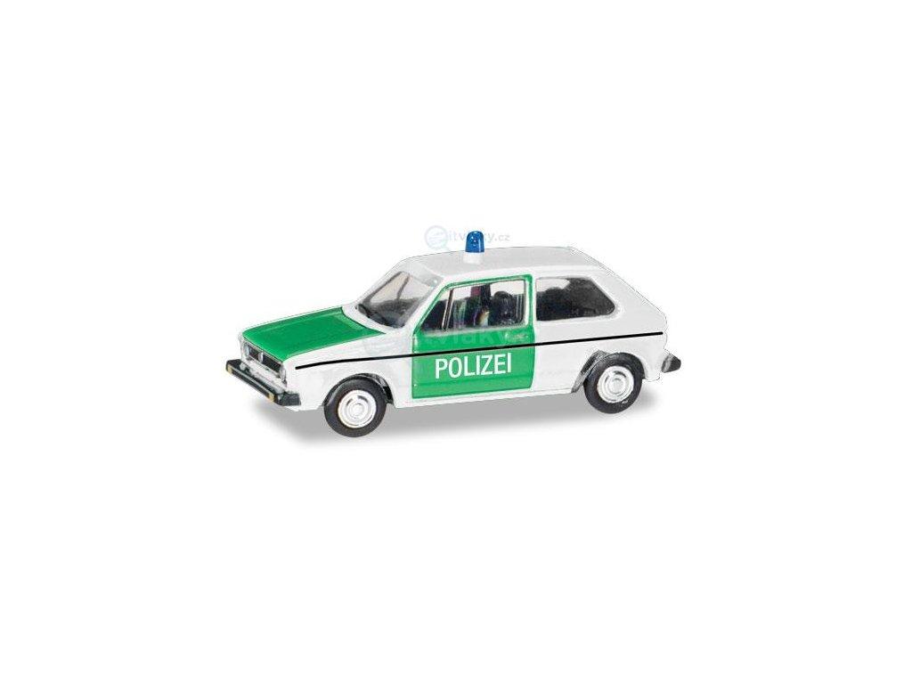 """TT - VW Golf 1 """"Polizei"""" / Herpa 066655"""