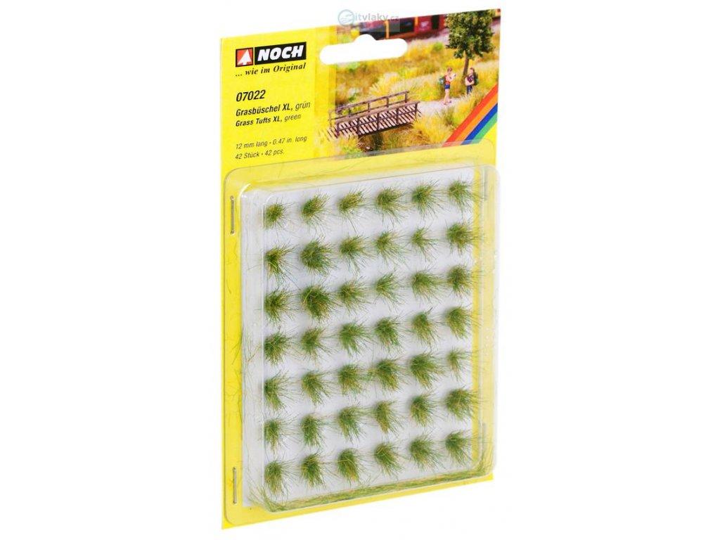 Trsy trávy XL, zelená 12 mm / NOCH 07022