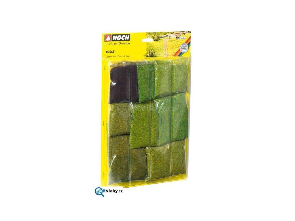 Různé travní posypy, mix 9 druhů, 1,5 - 2,5 mm / NOCH 07066