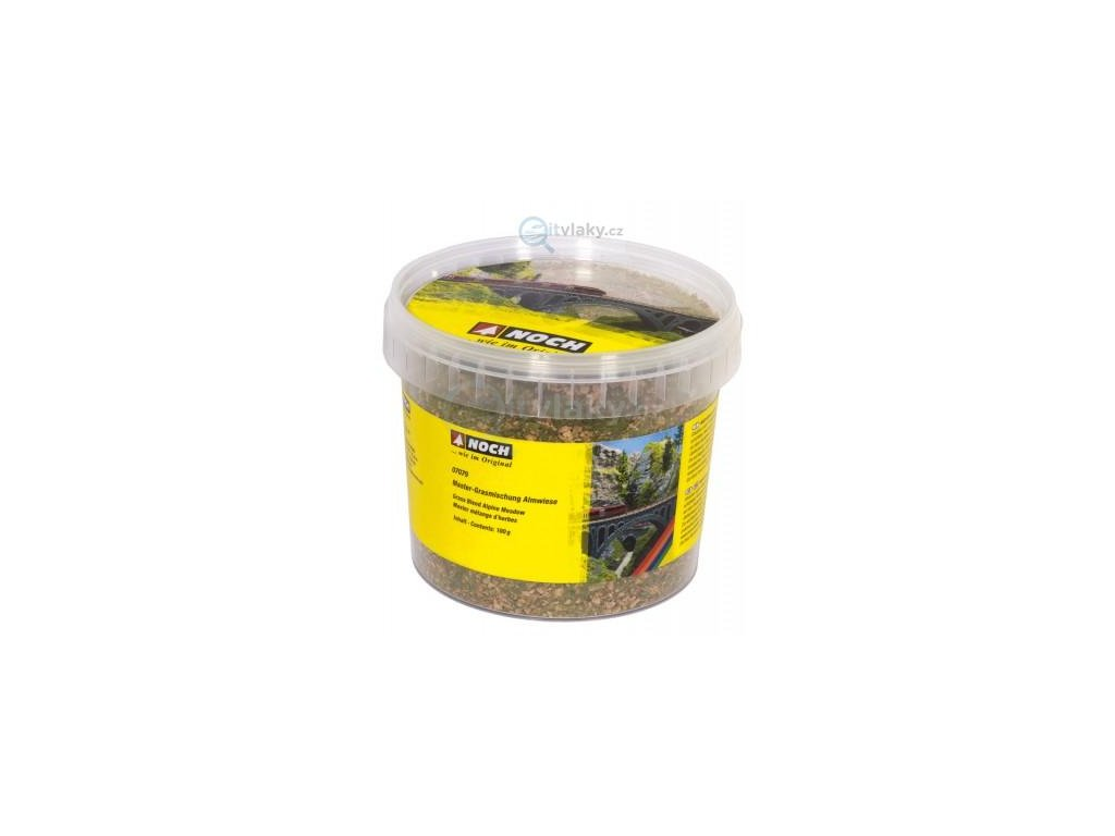 Statická tráva - horská louka BOX, 2,5 - 6mm, 100g / NOCH 07079
