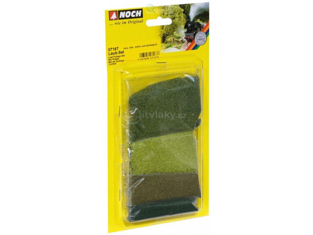 Zelený posyp, listový - sada 4 ks / NOCH 07167