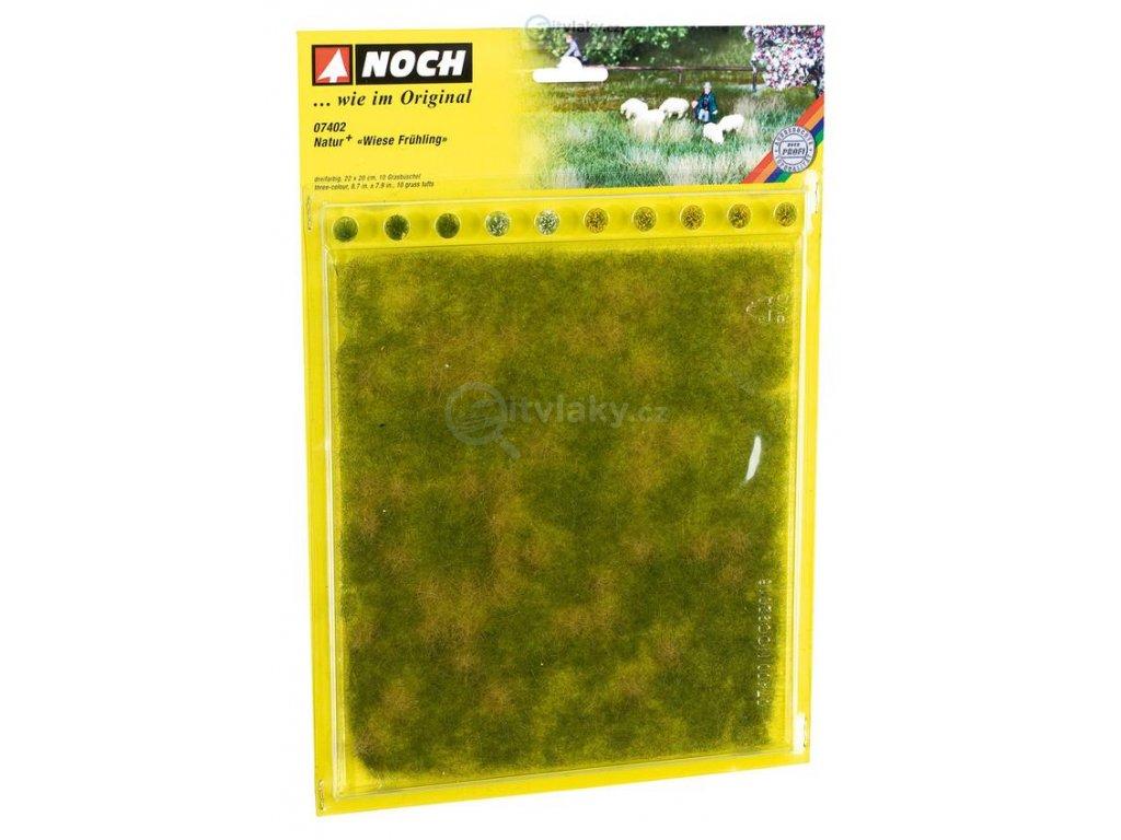 Jarní louka s trsy trávy 22x20cm / NOCH 07402