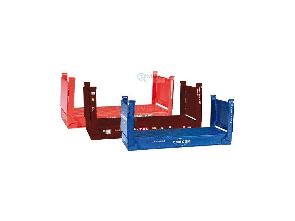 H0 - Příslušenství ke kontejnerům, 3 ks/ Herpa 076579