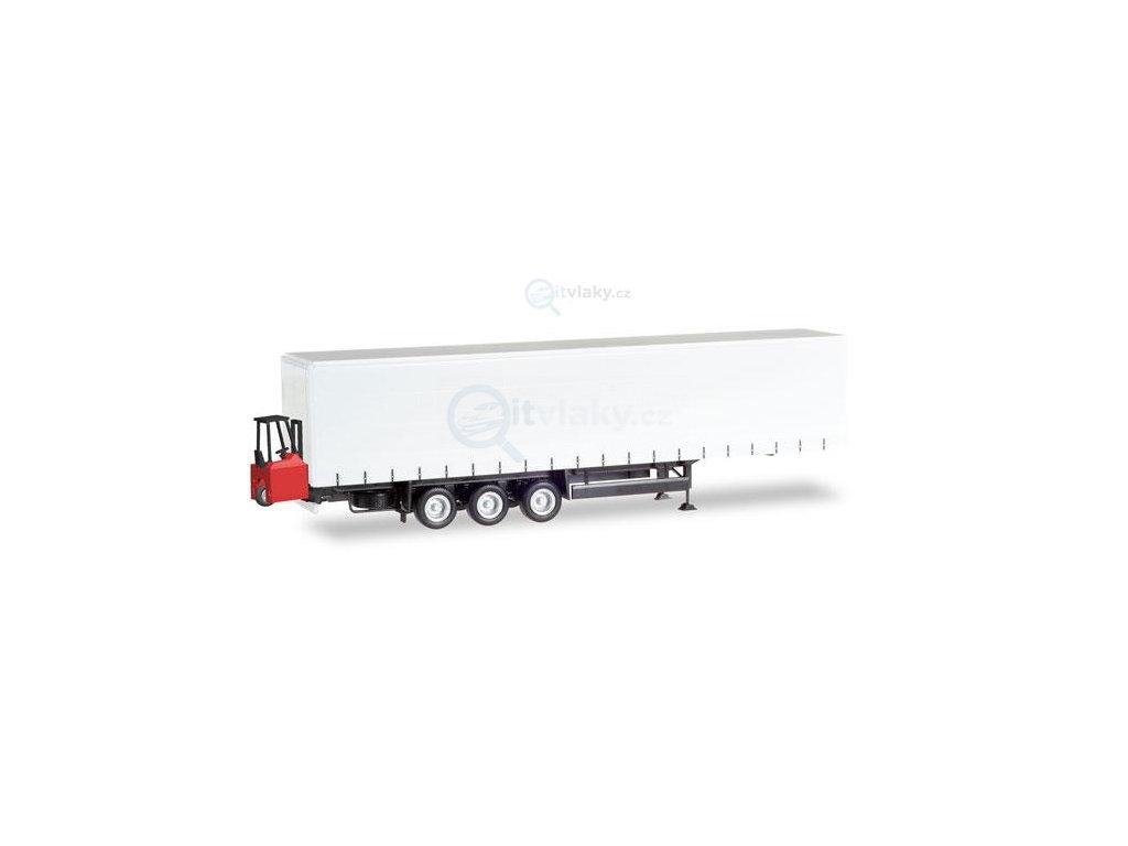 H0 - Schmitz Curtain canvas trailer přívěs / Herpa 076784