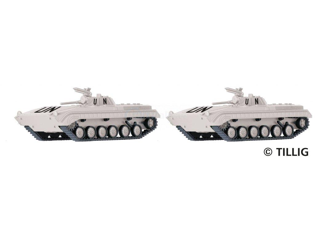TT - set 2 tanků BMP-1 United Nations / TILLIG 07746