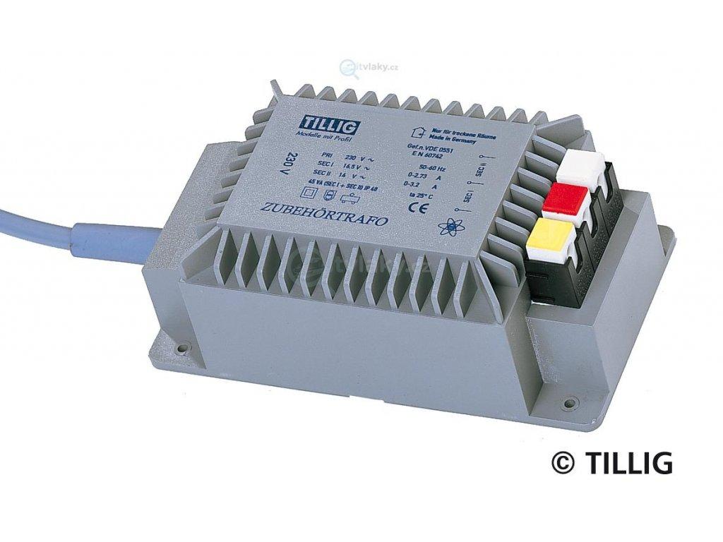 transformátor 14-16V / 45VA pro napájení příslušenství / Tillig 08122