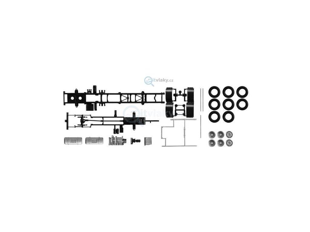 H0 - Podvozek nákladního automobilu Volvo FH 3-náprava 2 kusy / HERPA 084451
