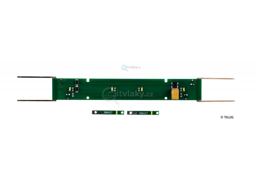 H0e - Osvětlení do čtyřnápravových úzkorozchodných vozů / Tillig 08811