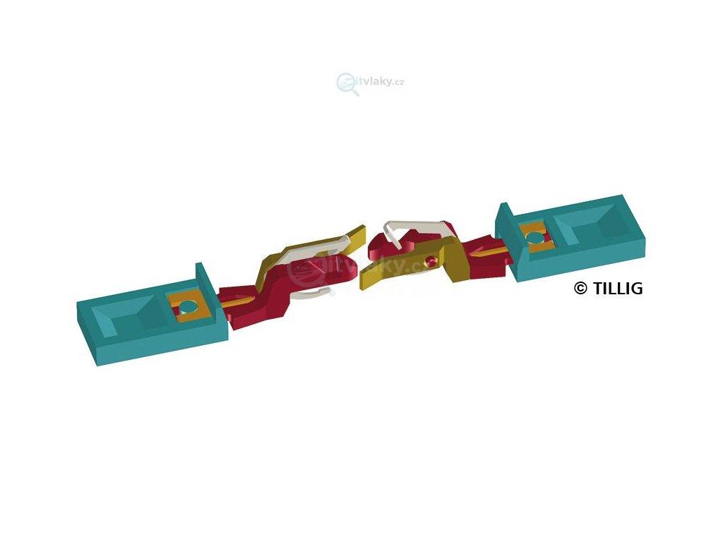 TT - Nové spřáhlo pro 6-osou V 180, NOHAB - 2 ks / Tillig 08843