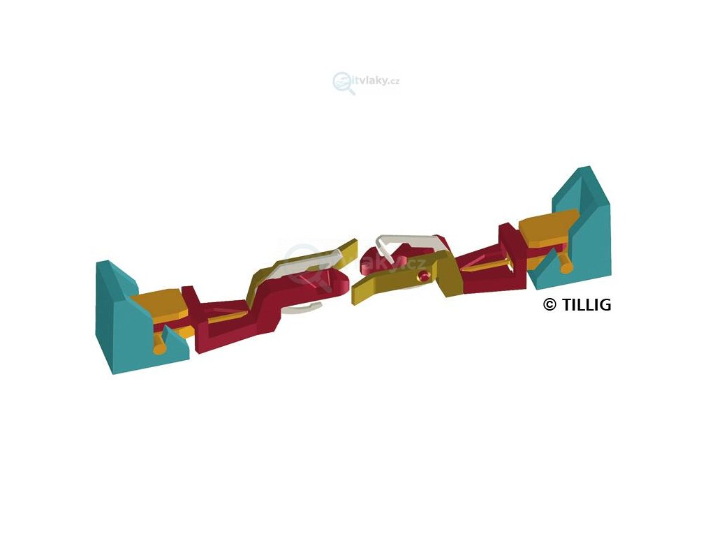 TT - Nové spřáhlo pro Sergej, V 200 Tillig - 2 ks / Tillig 08845