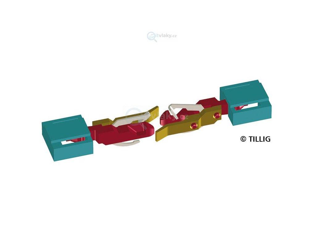 TT -  spřáhlo pro E 44, BR 243, BR 119 a tendr BR 01, Res 20 ks /TILLIG 08849