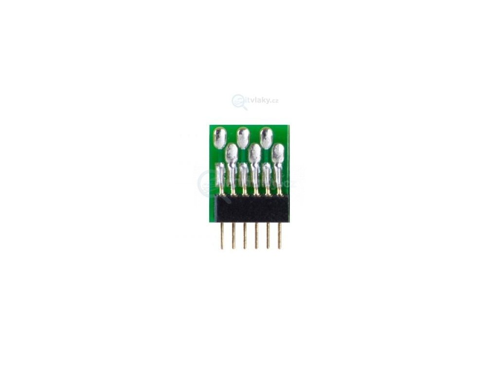 1ks konektor pro DCC rozhraní 6-pin NEM 651 - 1 ks /  Tillig 08914x1