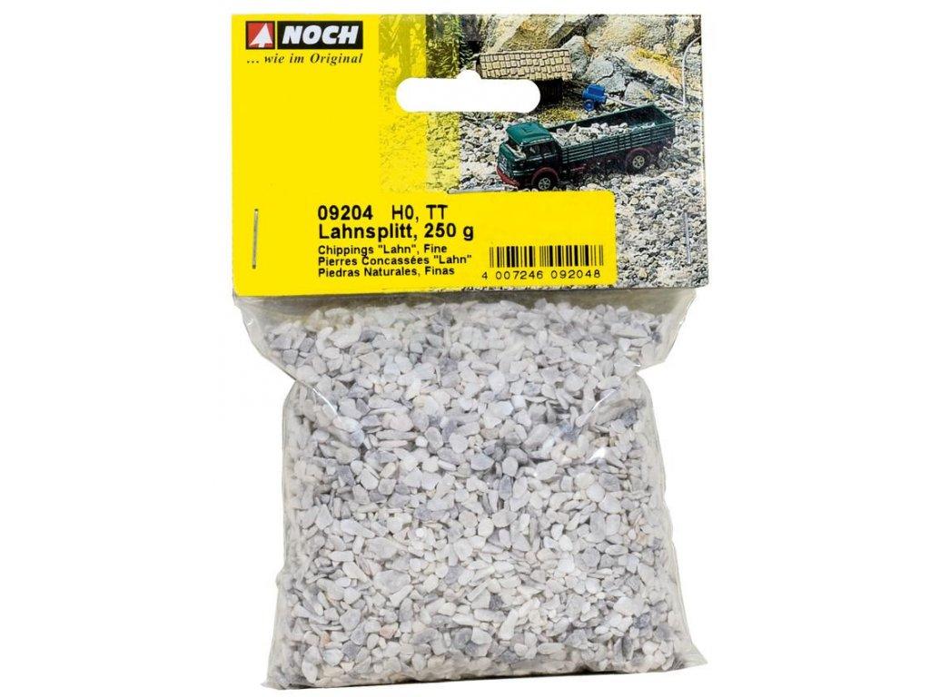 H0/TT - Štěrk šedý jemně drcený, přírodní - 250 g / NOCH 09204