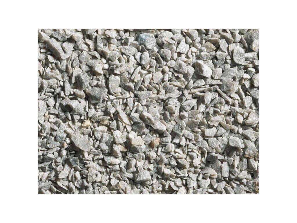 Štěrk šedý, hrubší, 250g / NOCH 09204