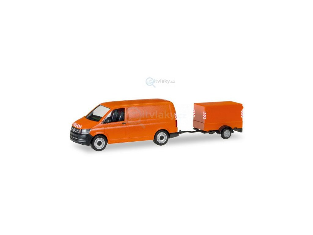 H0 - VW T6 with canvas-trailer / Herpa 093071