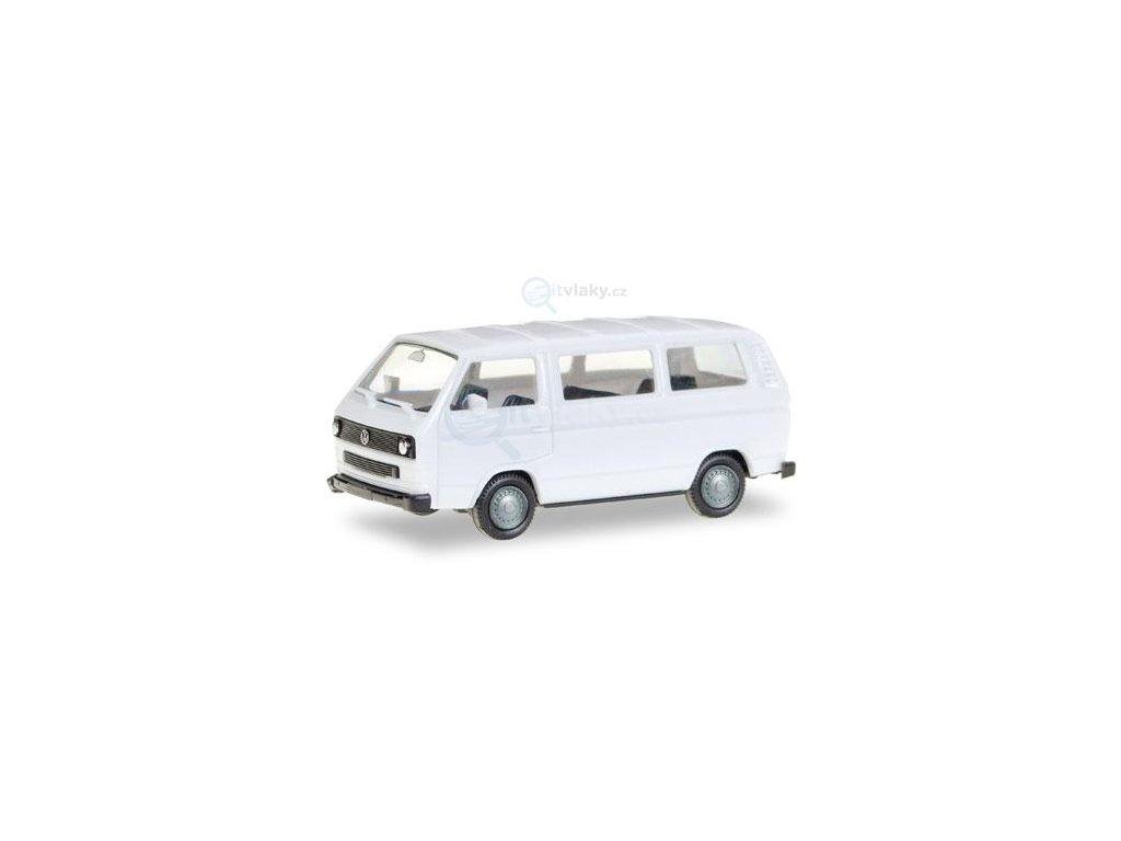 H0 - VW T3 Bus, bílá / Herpa 093156