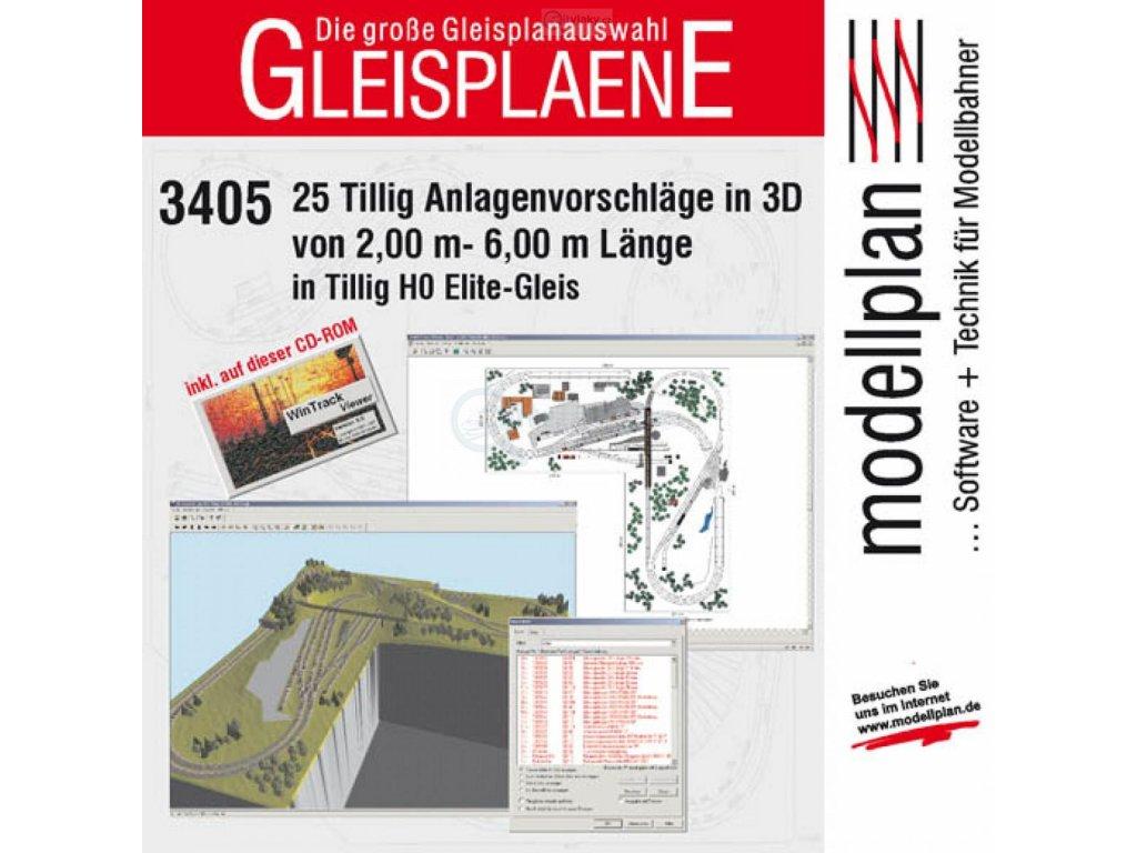 CD-ROM GLEISPLANE 3405 -  Plány kolejišť H0 /TILLIG 09547