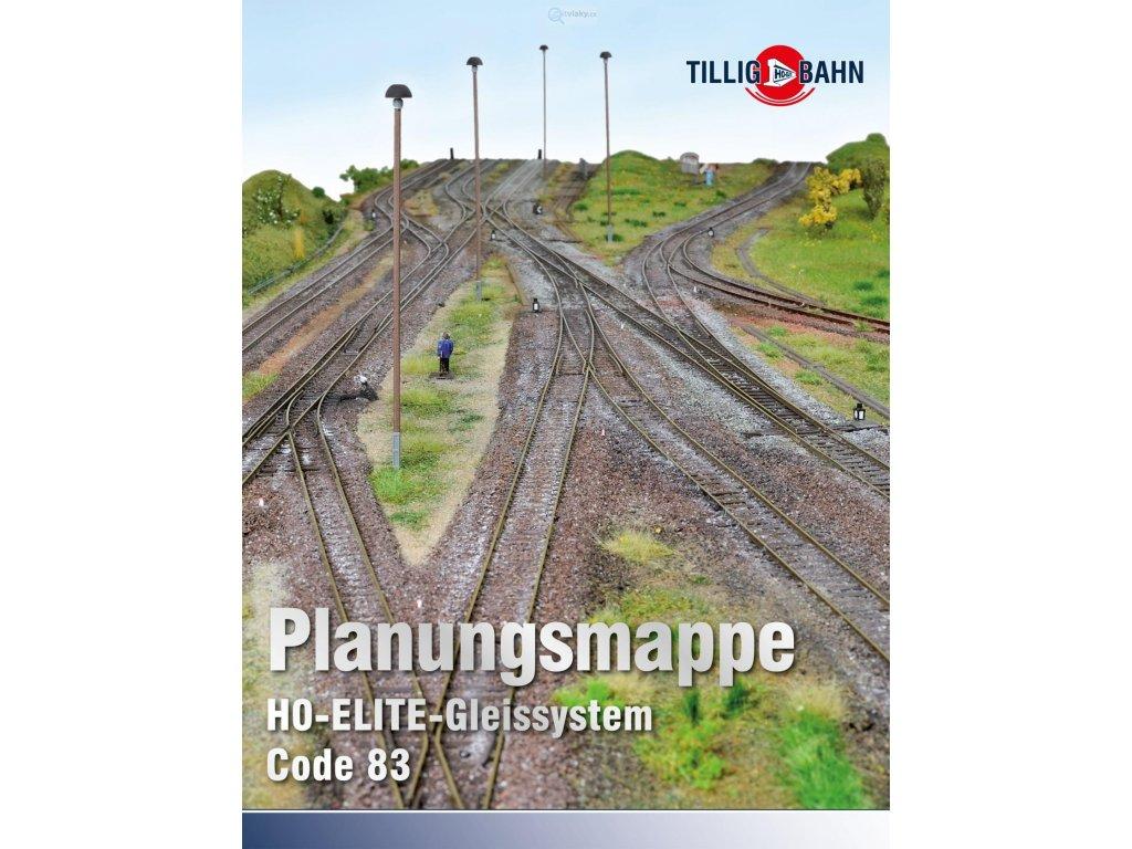 H0 - šablony pro plánování kolejiva H0-Tillig Elite / Tillig 09620