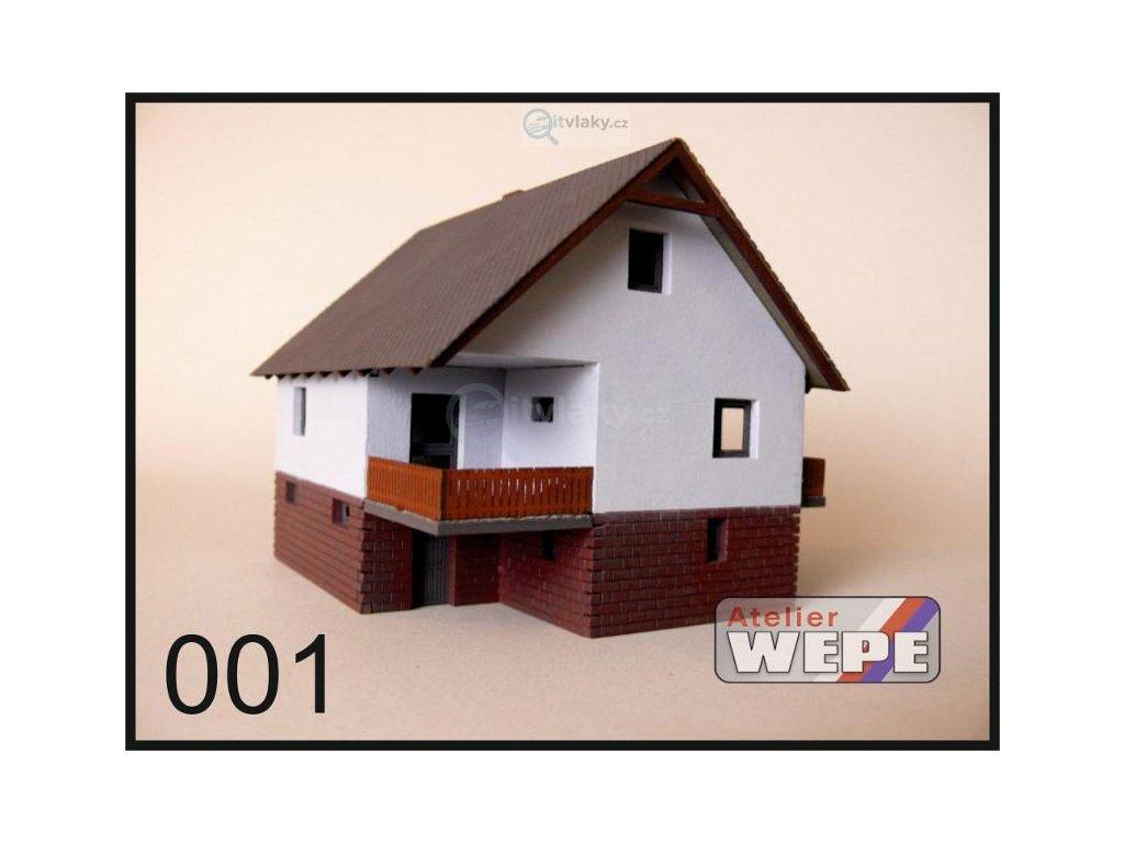 H0 - Rodinný dům ,,Okál balkón'' 001 / AWEPE model 10001