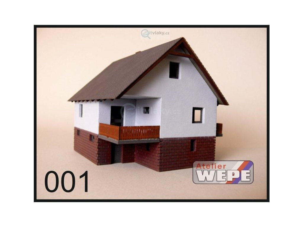 TT - Rodinný dům ,,Okál balkón'' 001 / AWEPE model 10002