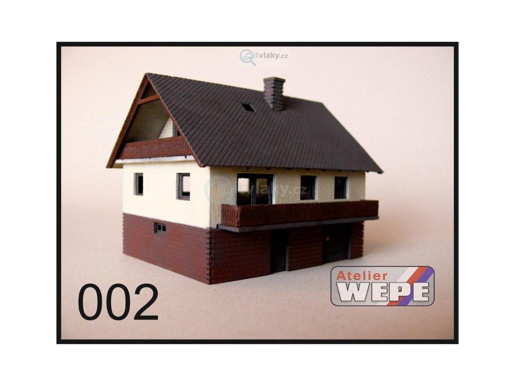 H0 - Rodinný dům ,,Okál lodžie'' 002 / AWEPE model 10003