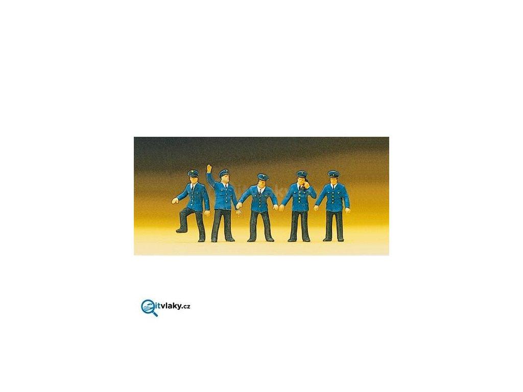 H0 - Železniční personál 5 ks figurek / Preiser 10012