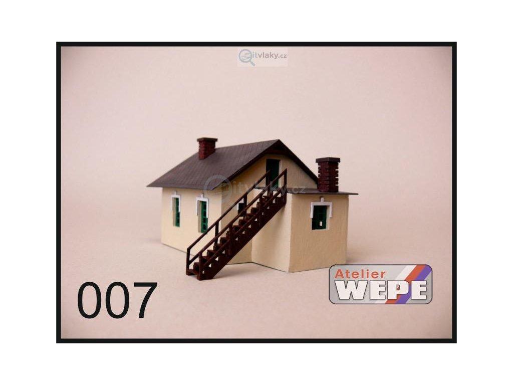 H0 - Strážní domek ,,Vechtr malý'' 007 / AWEPE model 10013
