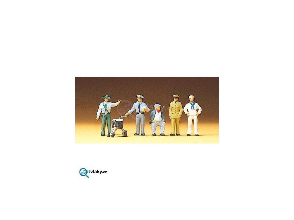 H0 - Figurky různých povolání 5 ks / Preiser 10014