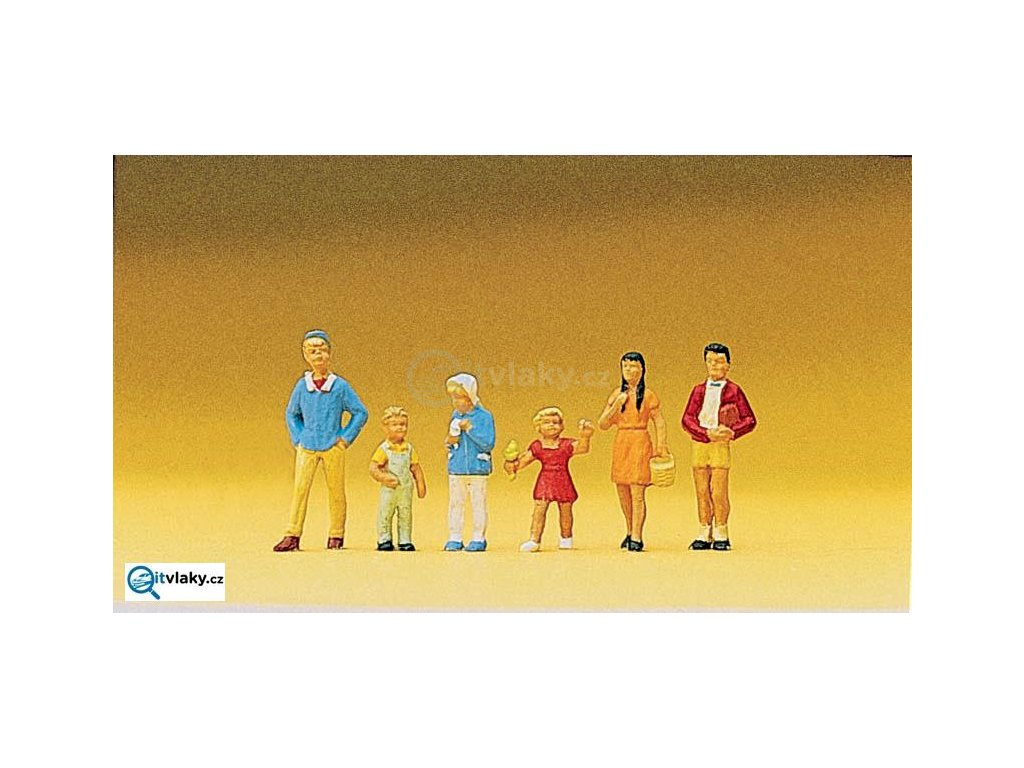 H0 - Děti , 6 figurek / Preiser 10023