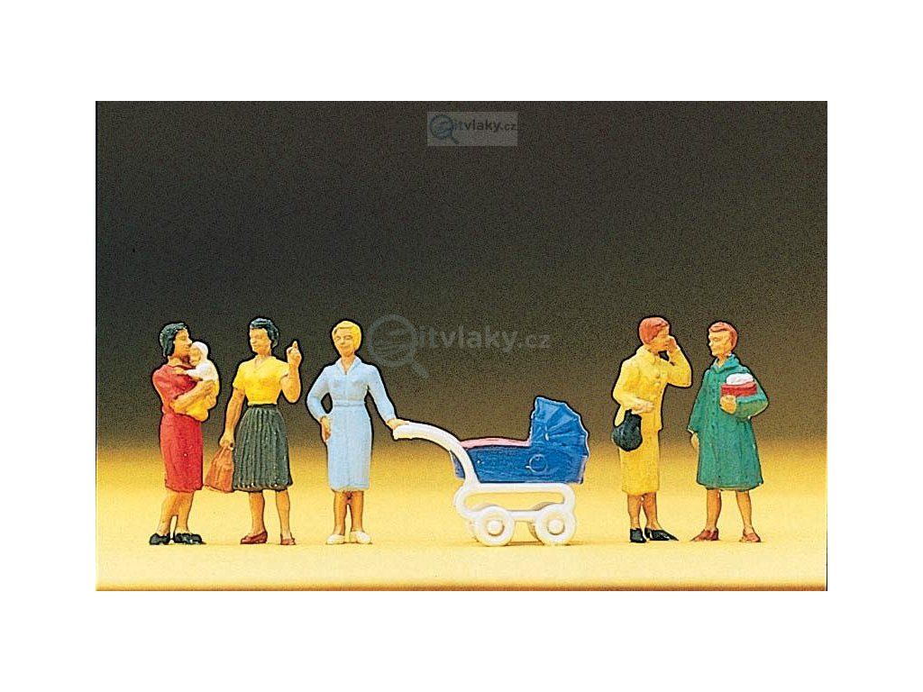 H0 - Skupinka žen s kočárkem / Preiser 10024
