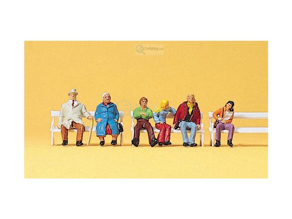 H0 - Sedící lidé/  Preiser 10027