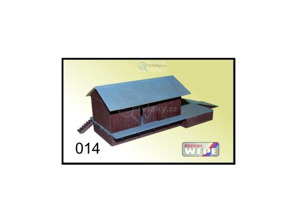 H0 - Budova skladu ,,Sklad Dřevák'' 014 / AWEPE model 10027