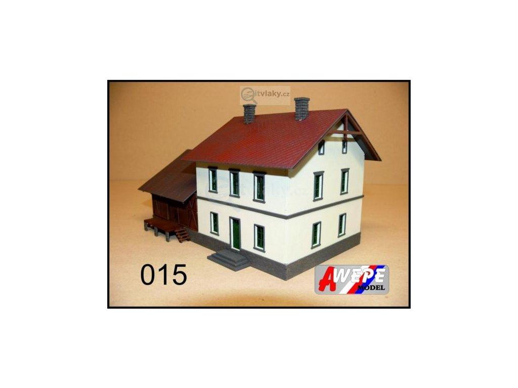 H0 - Budova nádraží se skladem ,,Ronov nad Doubravou'' 015 / AWEPE 10029
