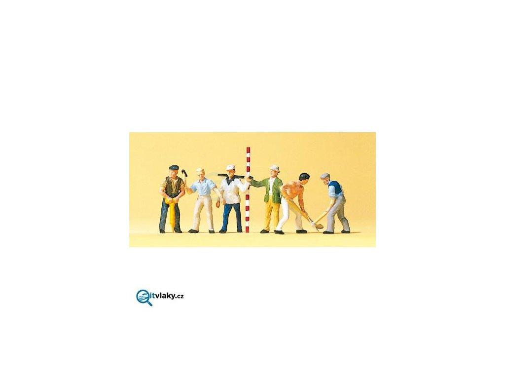 H0 - Pracovníci 6 ks figurek / Preiser 10030