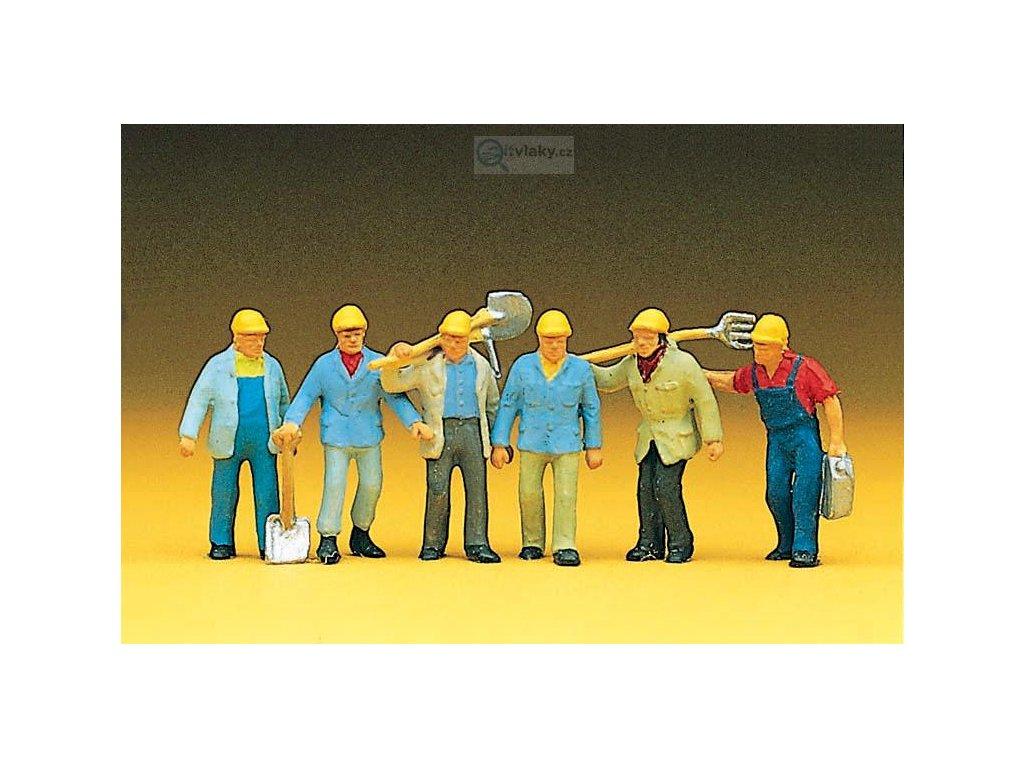 H0 - Dělníci / Preiser 10033
