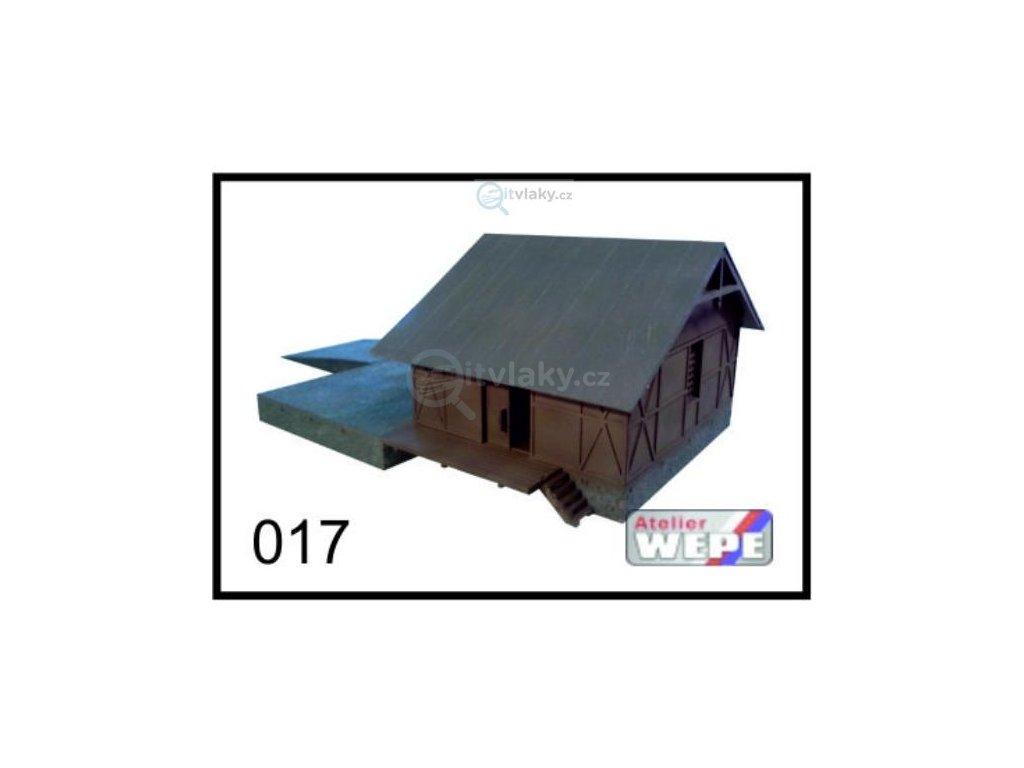 H0 - Budova skladiště ,,Sklad široký'' 017 / AWEPE model 10033