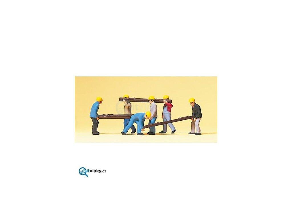 H0 - Dělníci 6 ks figurek / Preiser 10034