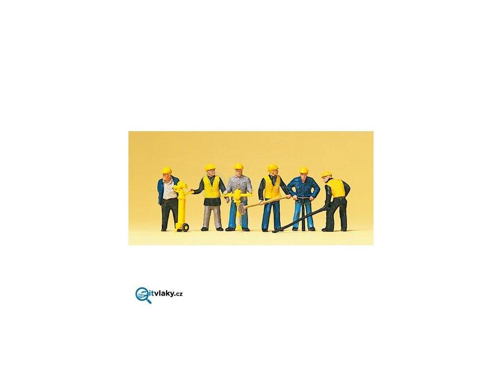 H0 - Pracovníci 6 ks figurek / Preiser 10035